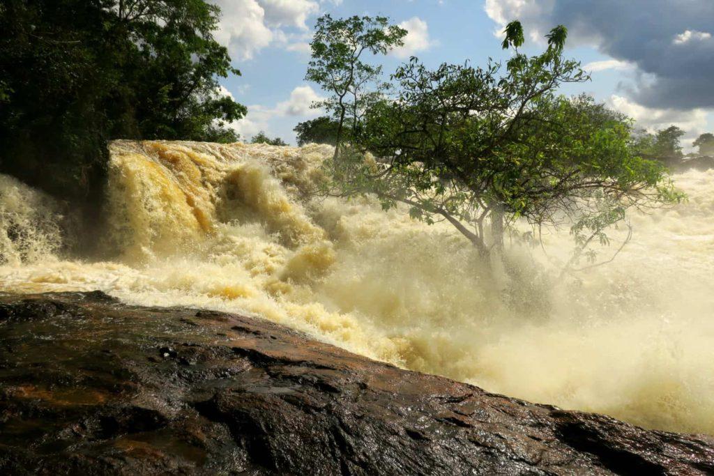 Nawa Wasserfälle mit Baum